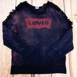 Up-cycled levi's Classic Batwing Sweatshirt